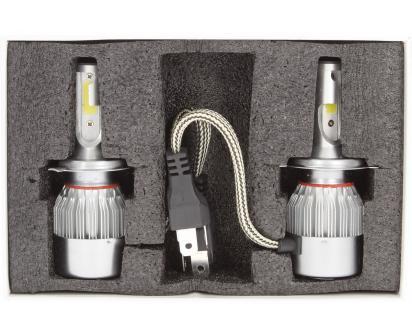 H4 žárovka LED C6 6000K sada 2 kusy