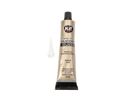 K2 SILICONE BLACK 85 g - černý těsnící silikon