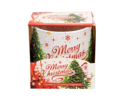 Vonná svíčka Merry Christmas skořicová