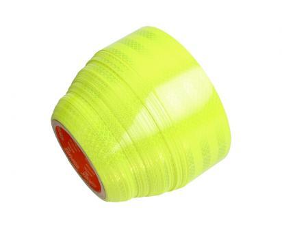 Reflexní lepící páska 25m neonová žlutá