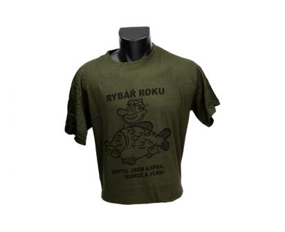 Tričko rybář roku zelené