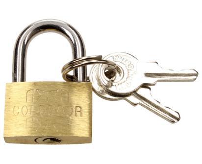 Malý bezpečnostní visací zámek s klíči 25 mm
