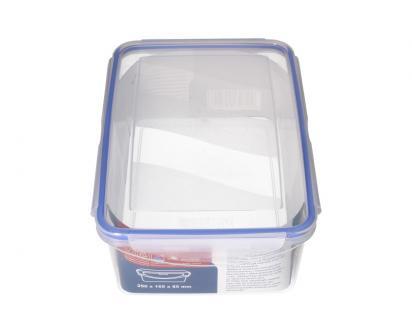 Obdélníková dóza na potraviny s gumovým těsněním 2,6 L