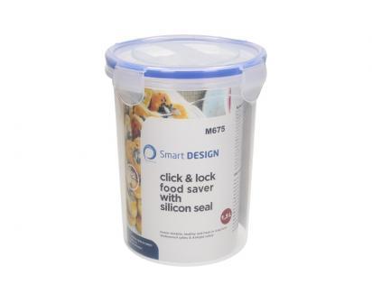 Vysoká kulatá dóza na potraviny s gumovým těsněním 1,5 L