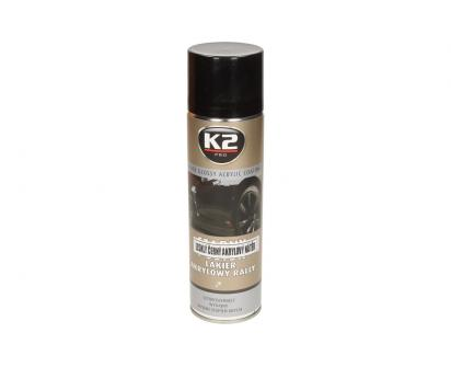 K2 Akrylová barva ve spreji černá lesklá