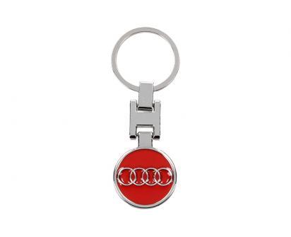 Klíčenka - znak Audi CHROM červená 3 cm
