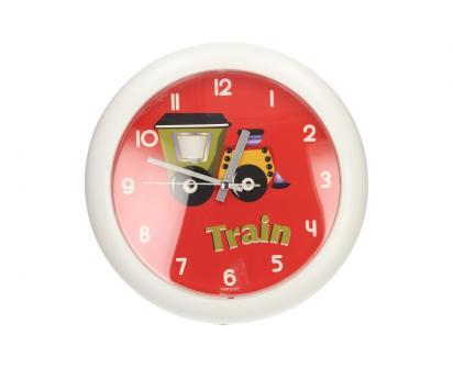 Nástěnné hodiny FLORINA FUNNY vlak ručičkové