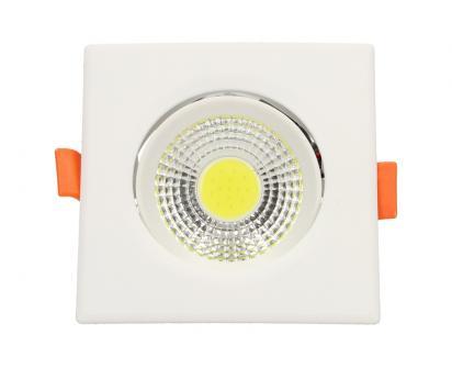 Vestavné LED bodové světlo 7W čtvercové