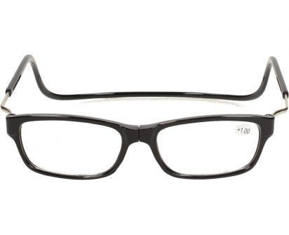 Dioptrické brýle s magnetem černé +1,00