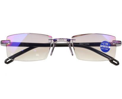 Dioptrické brýle s antireflexní vrstvou černé +2,00