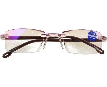 Dioptrické brýle s antireflexní vrstvou hnědé +2,50