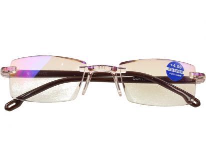 Dioptrické brýle s antireflexní vrstvou hnědé +4,00