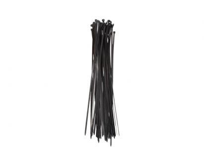 Stahovací pásky černé 5 x 400 mm, 50 kusů