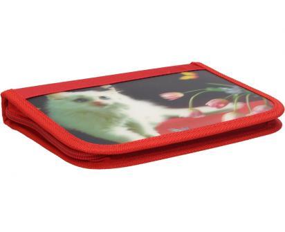Jednopatrový plně vybavený penál 3D Červený