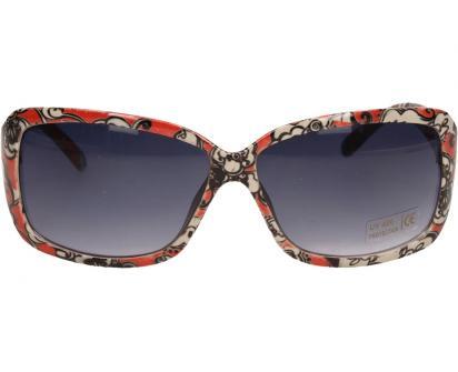 Sluneční brýle kytkované červeno-bílé 9330