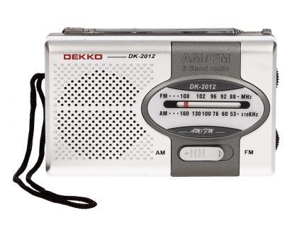 Mini rádio Dekko AM/FM 2 Band