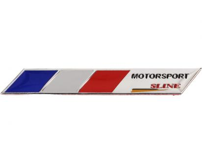 Kovová samolepka Francie Motorsport sline 9 x 1,5 cm