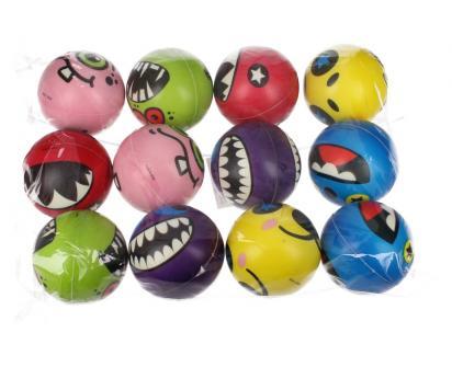 Pěnové míčky do vody 12ks legrační monstra