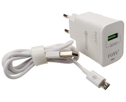 Micro USB super rychlá nabíječka FOYU