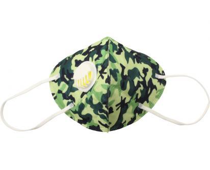 Respirační rouška KN95 maskáčová zelená