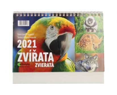 Kalendář 2021 Zvířata 22 x 17 cm