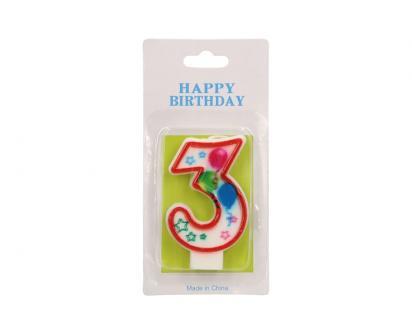 Svíčka na dort- číslo 3