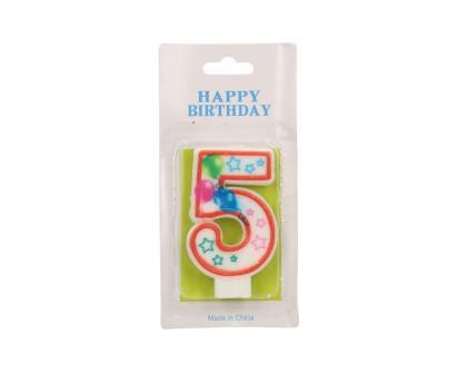 Svíčka na dort- číslo 5