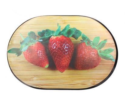 Prostírání na stůl oválné 40x28 cm Jahody