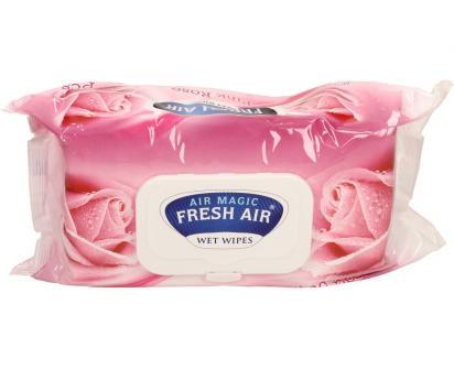 Fresh Air vlhčené ubrousky 100ks Pink Rose