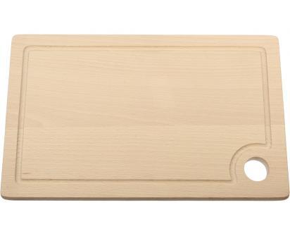 Krájecí prkénko dřevěné 30x18 cm s drážkou a očkem