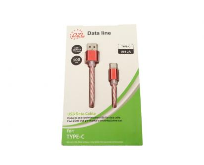 Nabíjecí kabel DZL 2A USB/ USB typ-C 100 cm