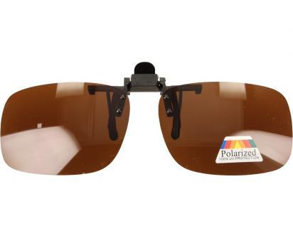 Polarizační sluneční Klip na brýle hnědé