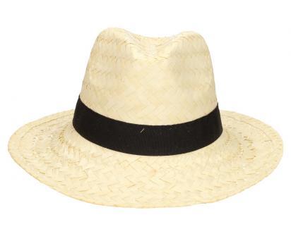 Slaměný kovbojský klobouk světlý s černým páskem