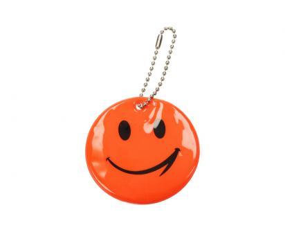 Reflexní přívěšek smajlík oranžový