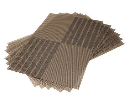 Prostírání na stůl hranaté 30x45 cm hnědé 6ks