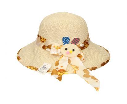Dětský klobouk s králíkem béžový