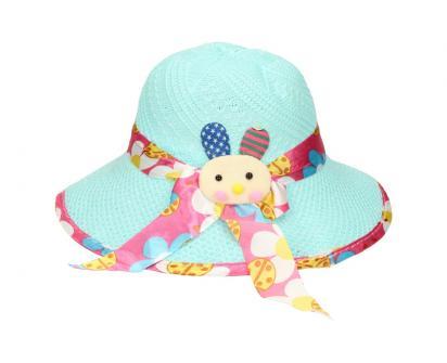 Dětský klobouk s králíkem modrý