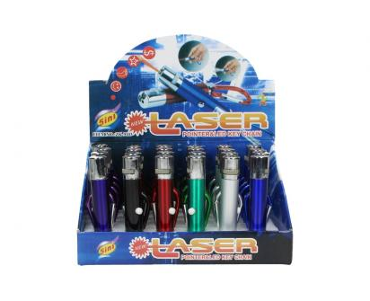 Laserové ukazovátko s baterkou a karabinou 5v1