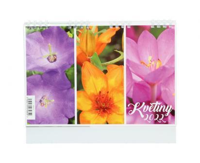 Kalendář 2022 Květiny 22 x 18 cm