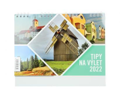 Kalendář 2022 Tipy na výlety 22 x 18 cm