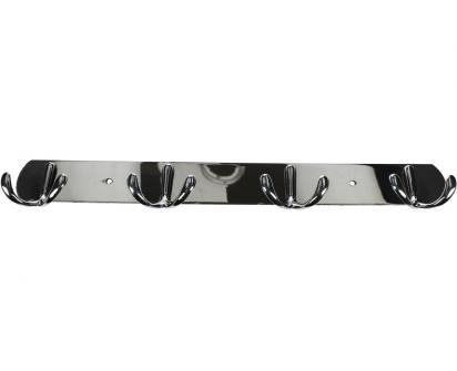 Nástěnný věšák se čtyřmi háčky chromovaný 35 cm