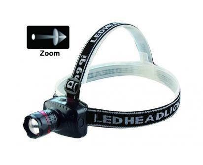 Silná LED čelovka se ZOOMEM