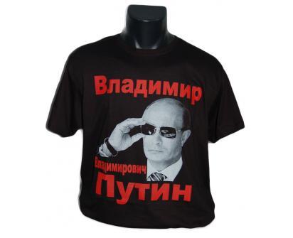 Tričko s Putinem černé