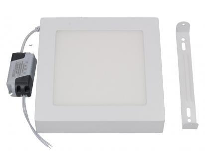 LED stropní panel 12W nezápustný čtvercový