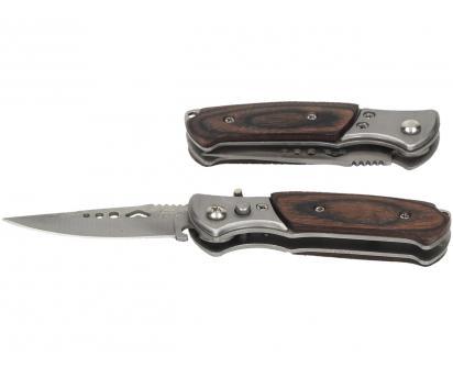 Vystřelovací nůž kapesní s dřevěnou střenkou 15 cm