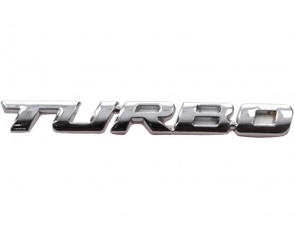 Kovová samolepka TURBO 9,5cm x 1cm
