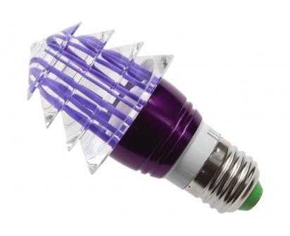 LED tvarová RGB žárovka 3W na ovládání