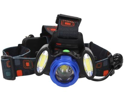 Nabíjecí výkonná čelovka HEADLIGHT se třemi světlomety