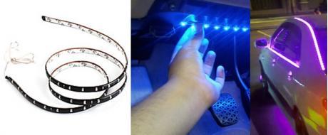LED pásek na tuning aut a motorek
