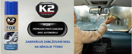 K2 FOX 200 ml - přípravek proti zamlžování skel